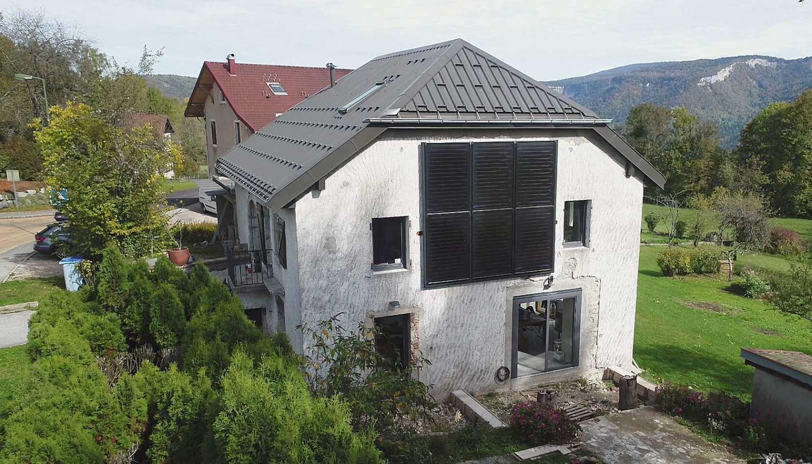 Panneaux solaires thermiques verticaux en façade