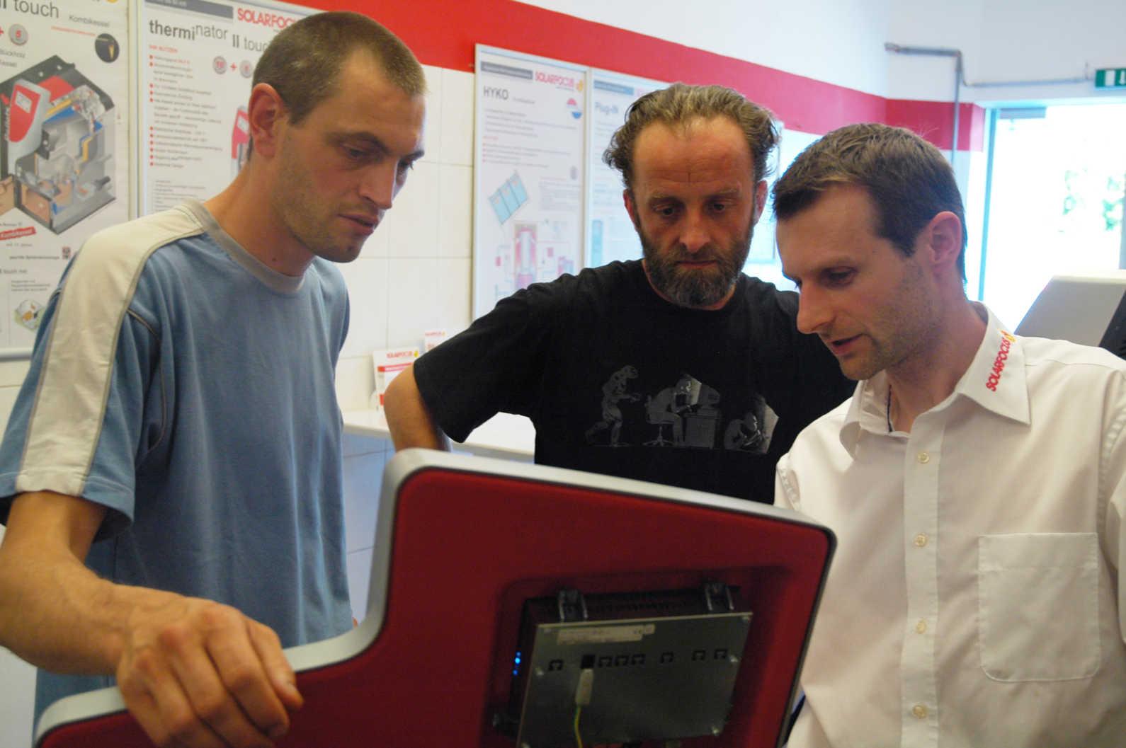 Formation de nos responsables techniques chez Solarfocus en Autriche